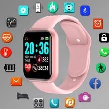 Hodinky-reloj deportivo inteligente para hombres y niños, pulsera electrónica Digital led con Bluetooth, reloj de fitness
