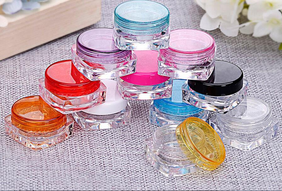 3g Small Empty Cosmetic Refillable Bottles Plastic Eyeshadow Makeup Face Cream Jar Pot Sample Jars 11Colors недорого