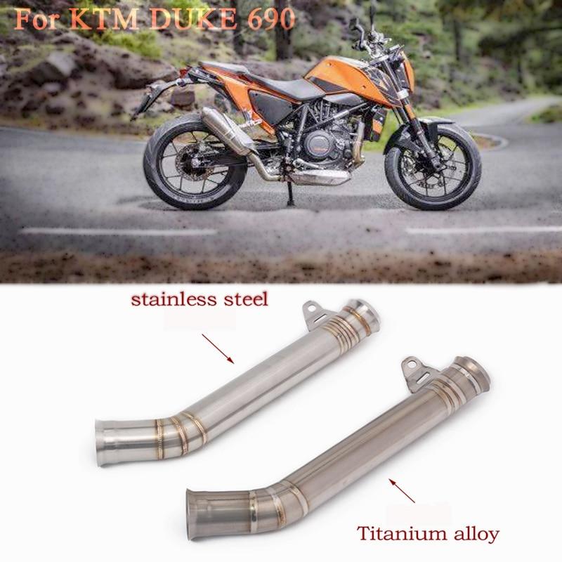 Für KTM DUKE 690 2012 2013 2014 2015 2016 2017 jahr Titan legierung Motorrad auspuff Stahl Rohr Slip-auf eliminator Nahen Rohr