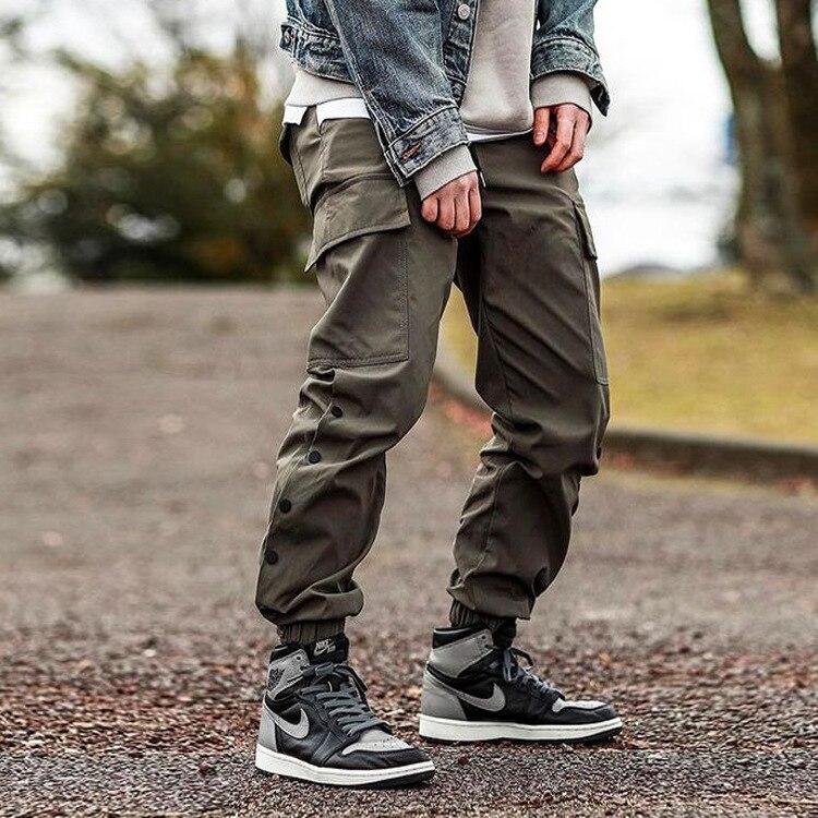 мужская одежда брюки мужские спортивные штаны Мужские повседневные брюки в новом стиле Молодежные корейские модные прямые брюки-карго муж...