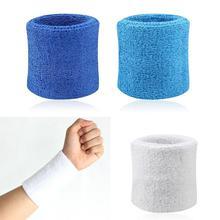 2 pezzi fascia per il sudore sport polso fitness Yoga polsino braccio sudore assorbire manica asciugamano fascia bracciali sport equipaggiamento protettivo