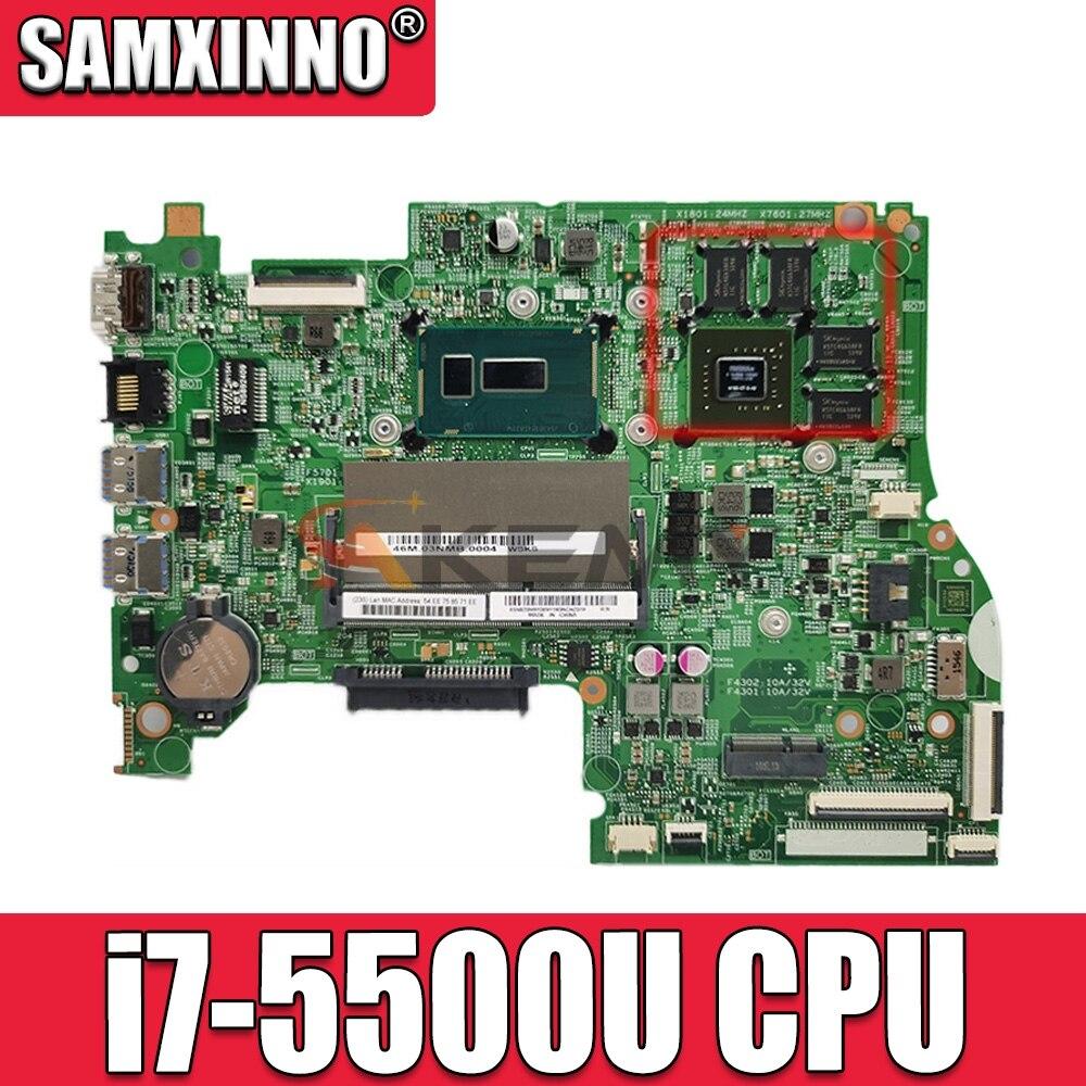 Akemy материнская плата для ноутбука lenovo 300S-14ISK 500S-14ISK 14 дюймов SR23W i7-5500U DDR3L GeForce материнская плата работает