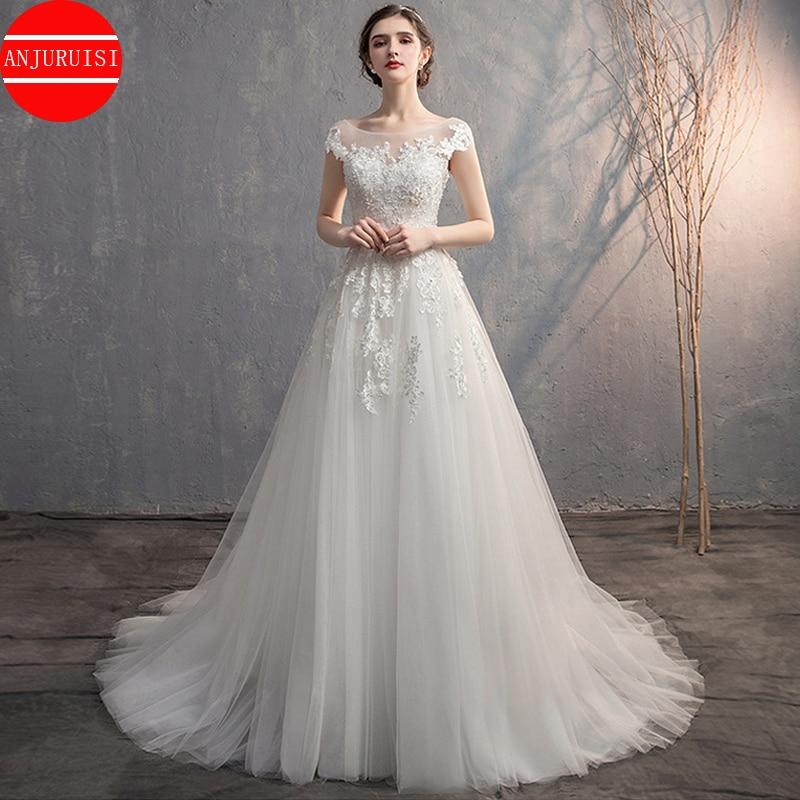 Vestido De novia 2021 mangas Vestido De novia De apliques bata De...