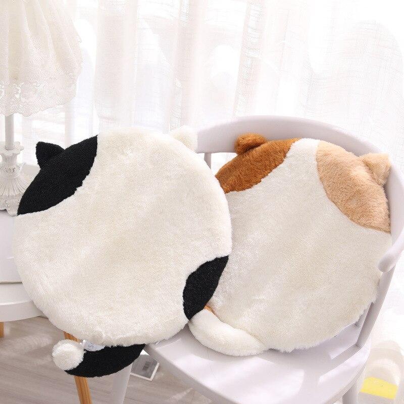 كرسي وسادة وسادة لطيف القط مقعد ديكور للكنبة رغوة الذاكرة المنزل تقليد الأرنب الفراء طالب مكتب غسل الكرتون أفخم Cojines