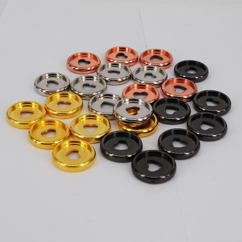 200pcs 24mm Mushroom Disc Binder Planner Binding Discs Notebook Binder Ring Binding Buckle Planner Accessories School Supplies