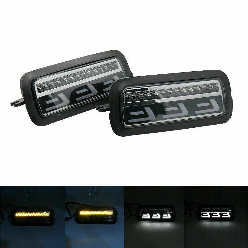 """Para Lada Niva 4X4 URBAN 7 """"Faro lateral LED DRL luz blanca corriendo ámbar intermitente función accesorios Led relé de luz trasera"""