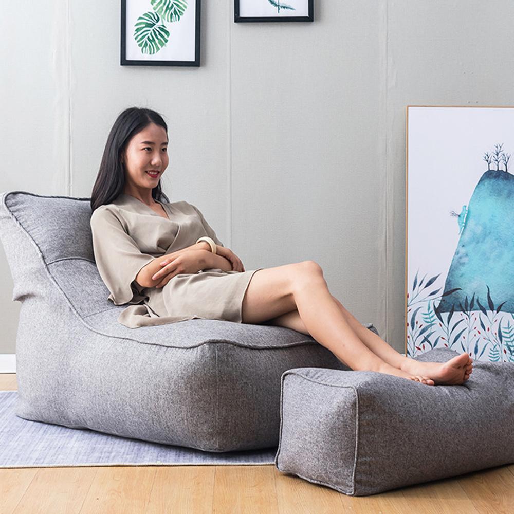 51 2 unids/set gran bolsa sofás de combinación cubierta sillas sin relleno interior perezoso tumbona para adultos niños de diseño Simple
