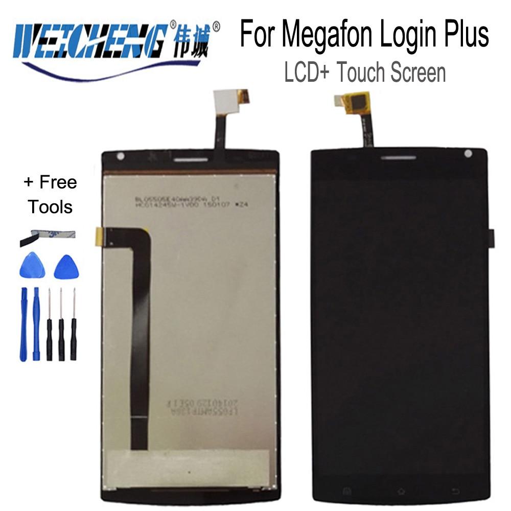 WEICHENG para Megafon Login Plus pantalla LCD + montaje de pantalla táctil para Login Plus lcd digitalizador + herramientas gratis