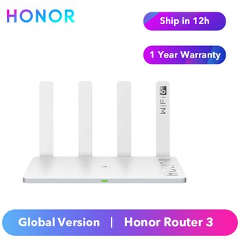 Original Honor Router 3 Wi-Fi 6 Plus 3000Mbps both 2.4Ghz band and 5Ghz band Global Version Smart Home Router