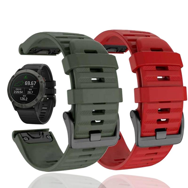 Correa de silicona de ajuste rápido de 22mm para Garmin Fenix 5 Plus Forerunner 935 945, correa de reloj para InstinctS60 Fenix 6 Pro