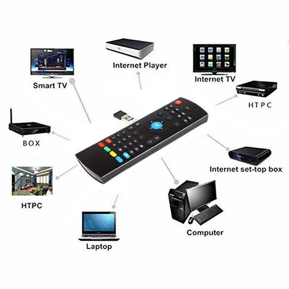 Preto mx3 2.4g teclado de controle remoto sem fio mouse ar para x96 mini h96 pc smart tv android caixa xbmc