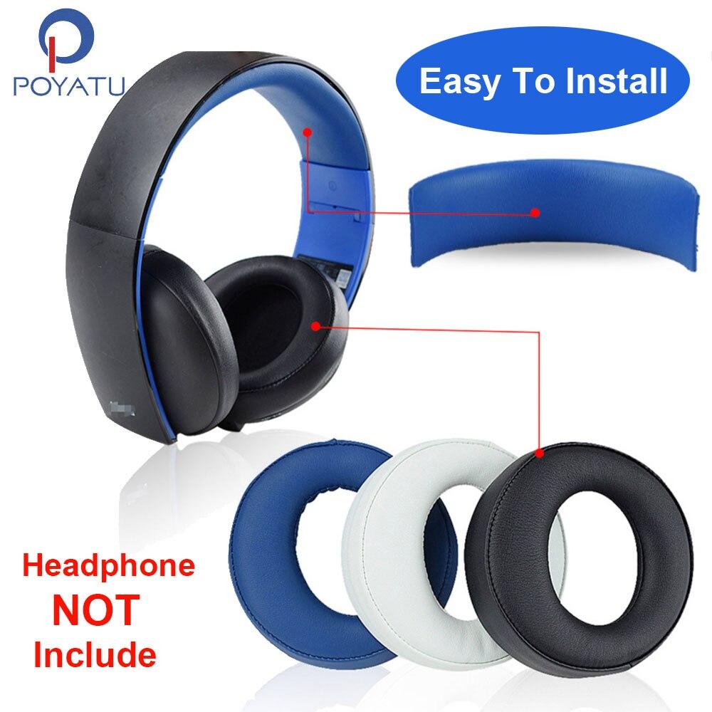 Almohadillas para auriculares POYATU CECHYA-0083, almohadillas para auriculares Ea para SONY Gold Wireless PS3 PS4 7,1, almohadillas para auriculares envolventes virtuales, almohadillas para auriculares