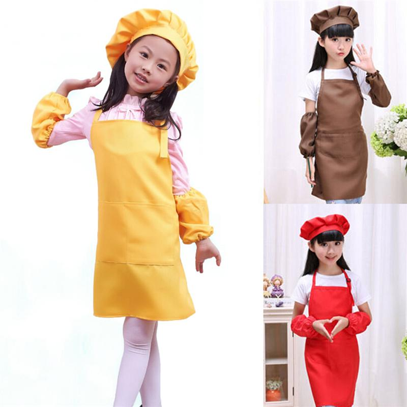 Conjunto de Chef para niños, juego de cocina para niños, juego de juegos, sombrero de Chef, delantal, manga para cocinar, hornear, pintura, decoración, fiesta