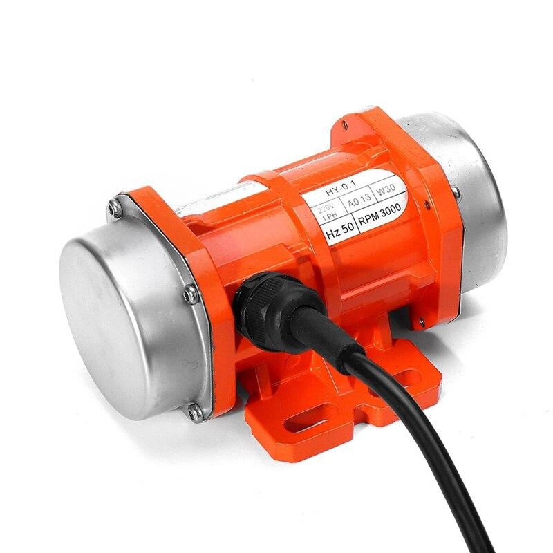 هزاز ملموس قابل للحمل اهتزاز المحرك 30 واط 220 فولت 3000 دورة في الدقيقة مرحلة واحدة الألومنيوم/موتور سرعة المراقب المالي