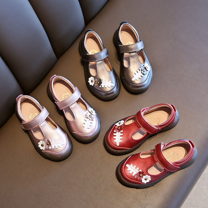 Children's Shoes Spring and Autumn Girls' Leather Shoes Girls' Shoes 2020 New Princess Shoes Soft-soled Leather Single Shoes enlarge
