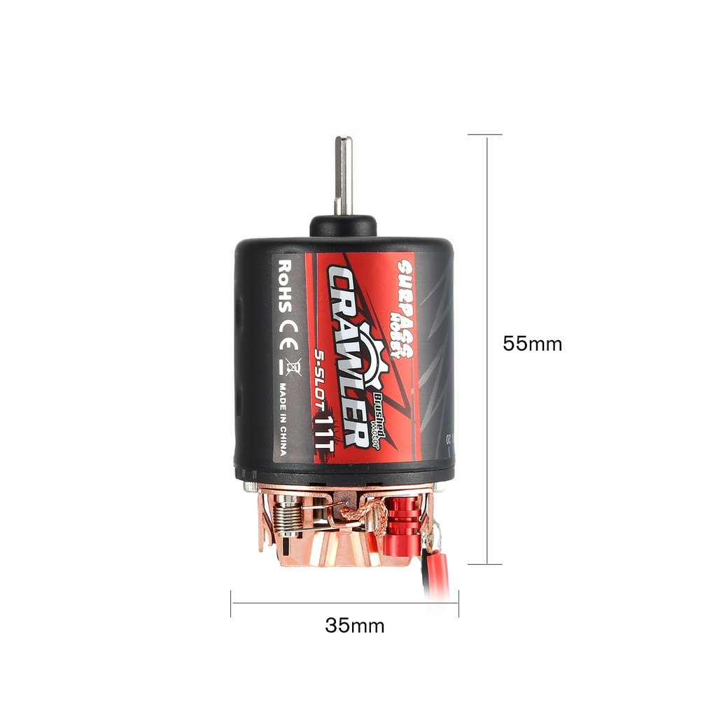 Original 5-Slot 540 11T 13T 16T 20T Brushed Motor W/60A Esc Combo Set For Rc Redcat Volcano Epx Blackout Xte Traxxas Trx-4 enlarge
