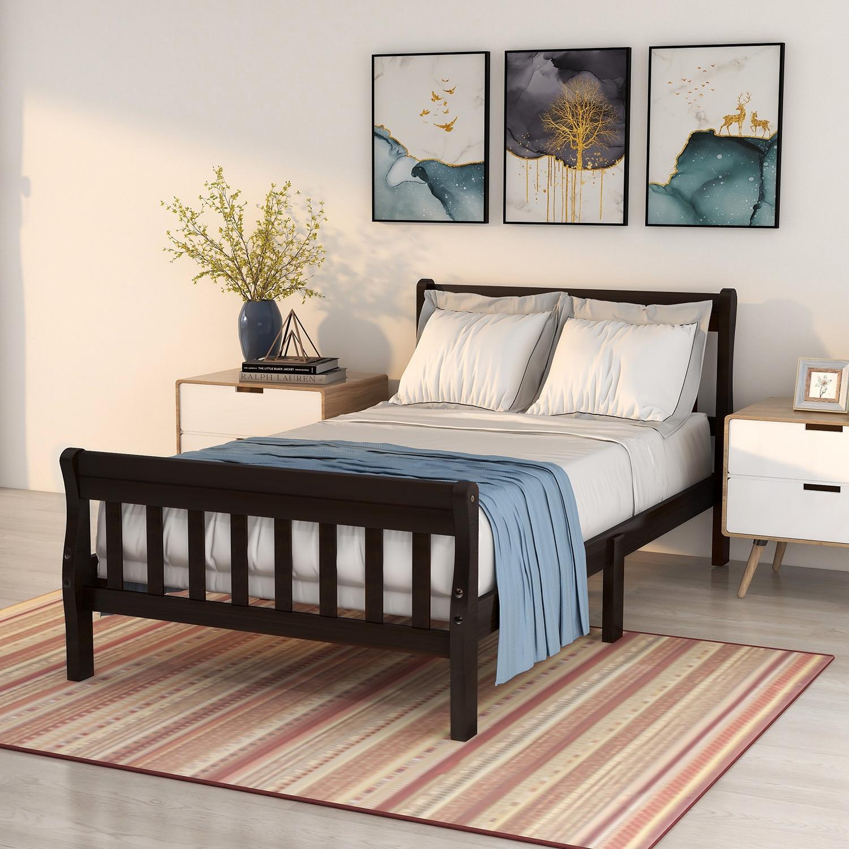 Деревянная платформа для кровати GOSKEY, двойной размер, рамка для кровати, панель для кровати, матрас для кровати, подставка для кровати с изго...