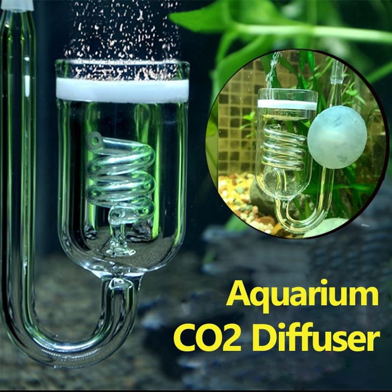 1pc აკვარიუმი CO2 დიფუზორი მინის ავზის ბუშტი ატომიზატორი რეაქტორი სოლენოიდის მარეგულირებელი CO2 ატომიზატორი 60 ~ 300 ლ მცენარეებისთვის