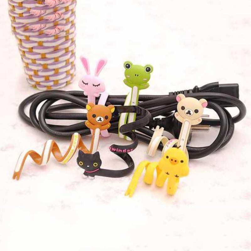 Bobinadora Super linda de animales de dibujos animados USB línea de auriculares bobinadora de alambre de alta calidad accesorios electrónicos
