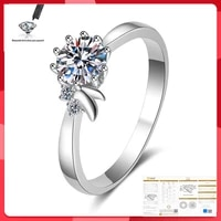 original moissanite ring 100 s925 sterling silver wedding valentines day 0 5ct 1ct 2ct d color vvs1 luxury ring