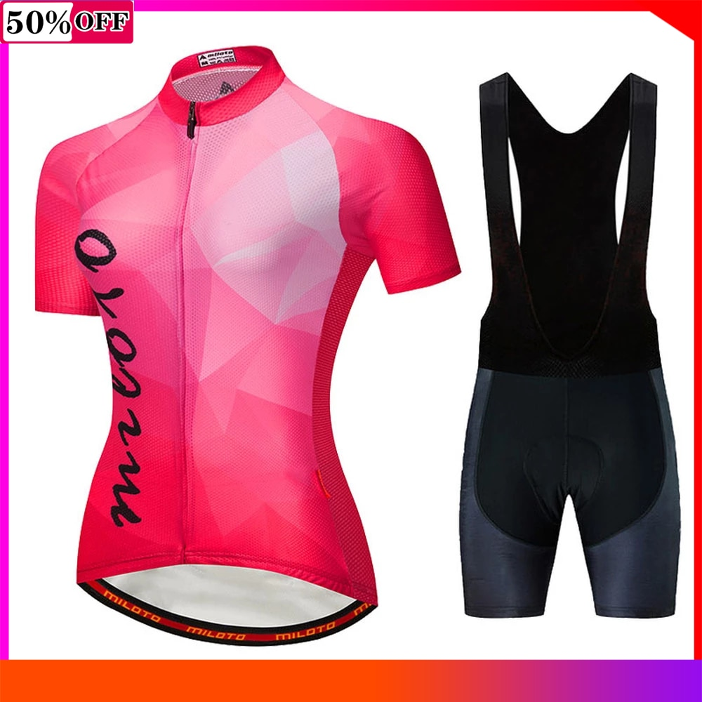 Las mujeres de manga corta jerséis Ropa de Ciclismo Mujer 2021 Maillot...