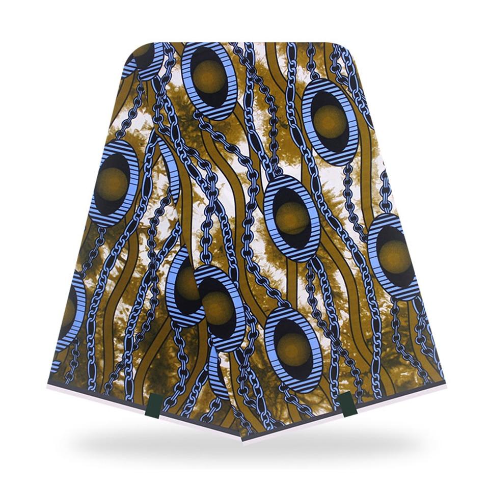 Los tejidos Africain Pagne impresión envoltura de cabeza de lujo cera ankara tela kitenge para artesanía haciendo vestidos faldas YBGSW-53
