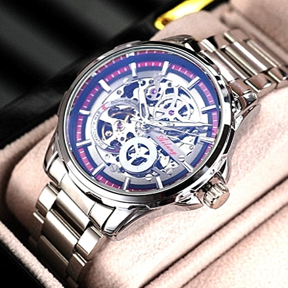 Hollowed Out Personalized Full-automatic Mechanical Watch Waterproof Men's Watch New Fashion