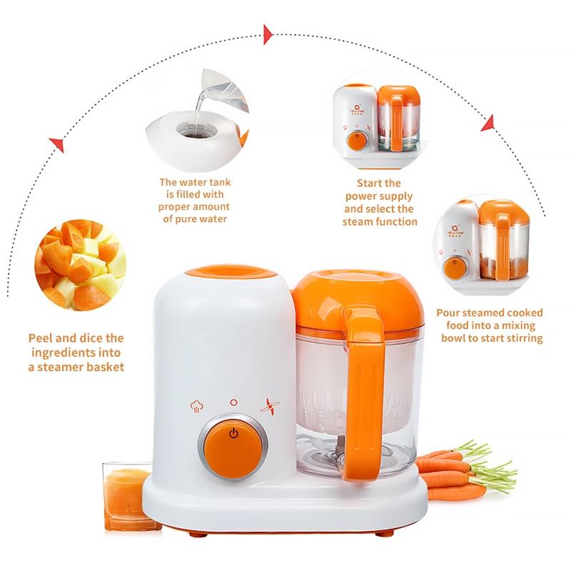 Baby Food Maker Multifunction Electric Children Food Cooking Maker Steamer Mixing Grinder Blenders Processor Juicing Stirring