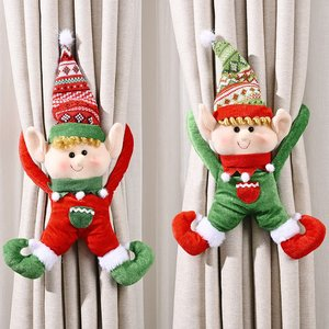 Christmas Calendar Merry Christmas Decorations For Home Noel Xmas New Year Gifts Santa Claus Dolls Kids Toys Curtain Decoration