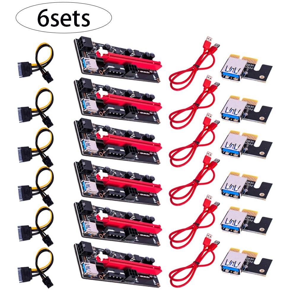 PCI-E بطاقة جرافيكس كابل الناهض بطاقة USB VER009S موسع كابل محول PCI-E 1X إلى 16X تمديد كابل مع مؤشر LED