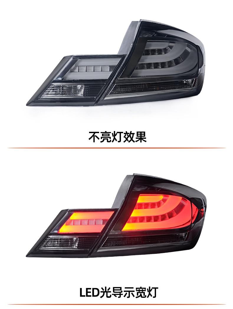 2pcs car bupmer headlight for Honda Civic taillight 9.5th 2014~2015y car brake LED car accessories taillamp for Civic rear light
