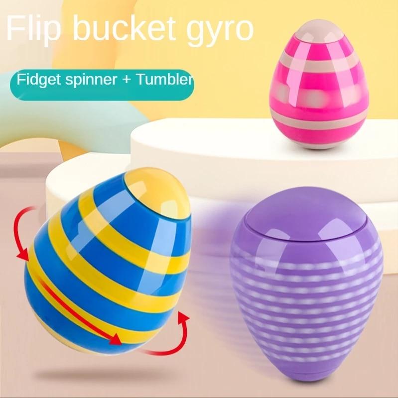 Creative Light Finger Tip Top Rotating Colorful Tumbler Decompression Toys Desktop Stress Relief Fun Kids Gift Novelty Toys enlarge