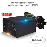 power supply for pc for rx 470 rx580 1800w atx psu rx560 rx570 pico psu asic bitcoin miner atx mining machine support 6 gpu