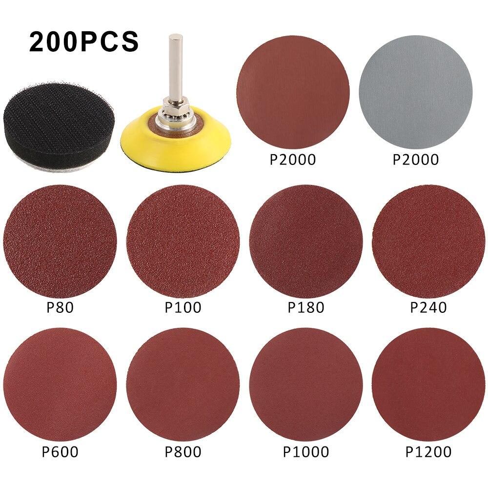 300 pezzi 80/180/240/320/800/3000 set di dischi abrasivi grana 2 - Utensili abrasivi - Fotografia 3