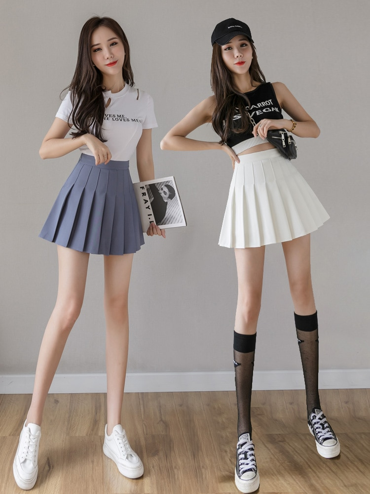 2020 Cosplay black white skirt Fashion Female Mini Skirts Short Women high waist pleated skirt Sweet Cute Girls Dance Mini Skirt women skirt fashion high waist pleated skirt sweet cute girls dance mini skirt cosplay preppy uniform school short skirts