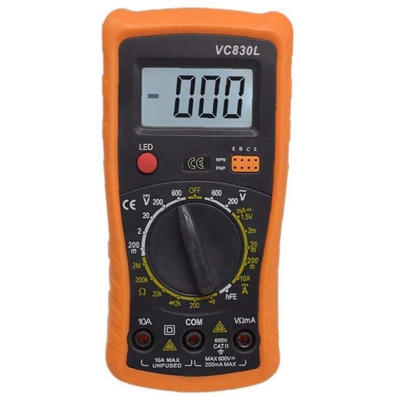 Multímetro Handheld Digital Medidor Universal Amperímetro Voltímetro Vc830l A830l