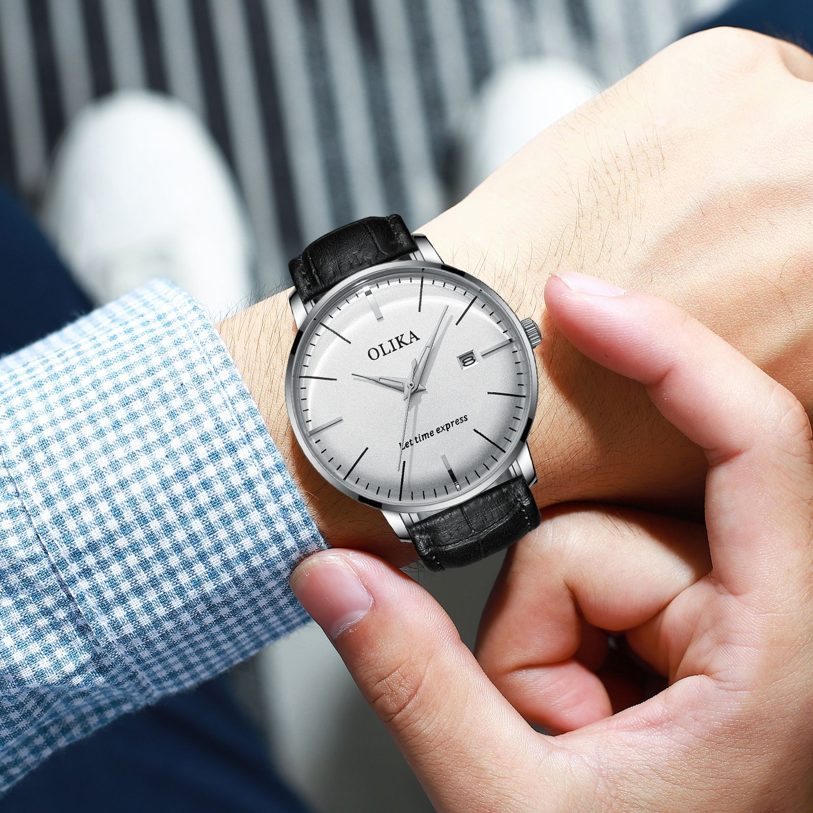 Swiss watch brand men's waterproof not mechanical automatic arc quartz watch men's sport man gift watches enlarge