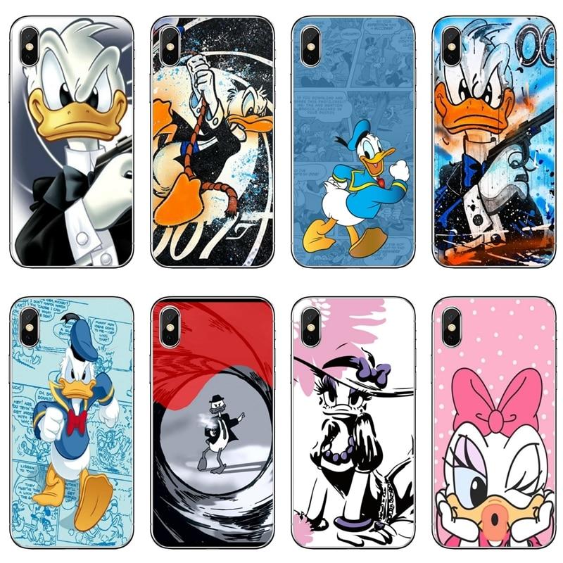 Para LG G5 G6 G7 Q6 Q7 Q8 Q9 V30 X Power 2 3 Nokia 6 7 8 9 onePlus 3T 5T 6T funda de dibujos animados Donald Daisy pato
