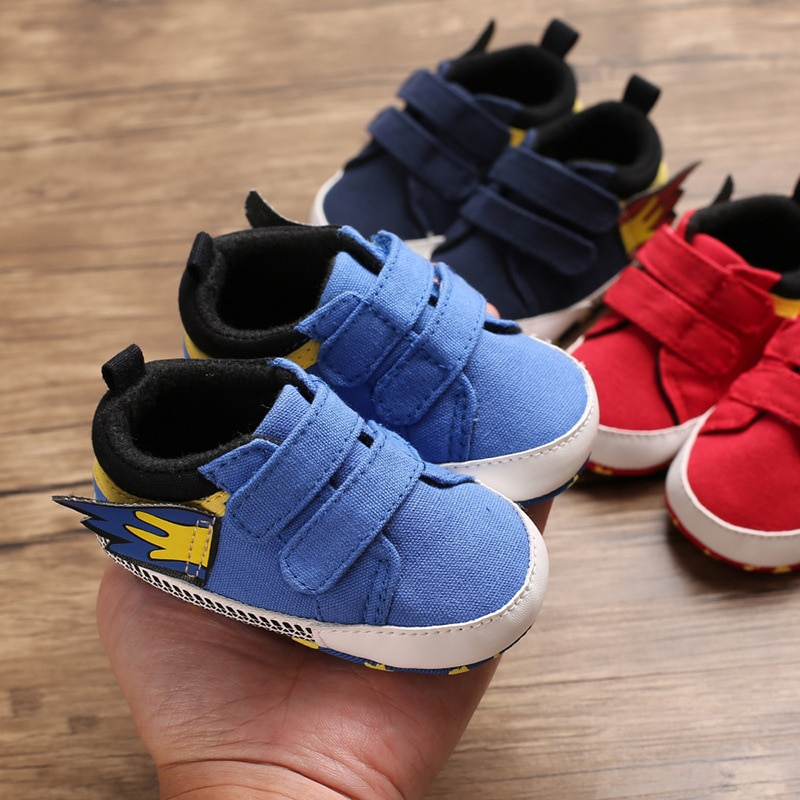 Four Seasons 0-1 Year Old Baby Shoes Cloth Soft Bottom Velcro Casual Prewalker 0-12 Months Baby Spring and Autumn Walking Shoes