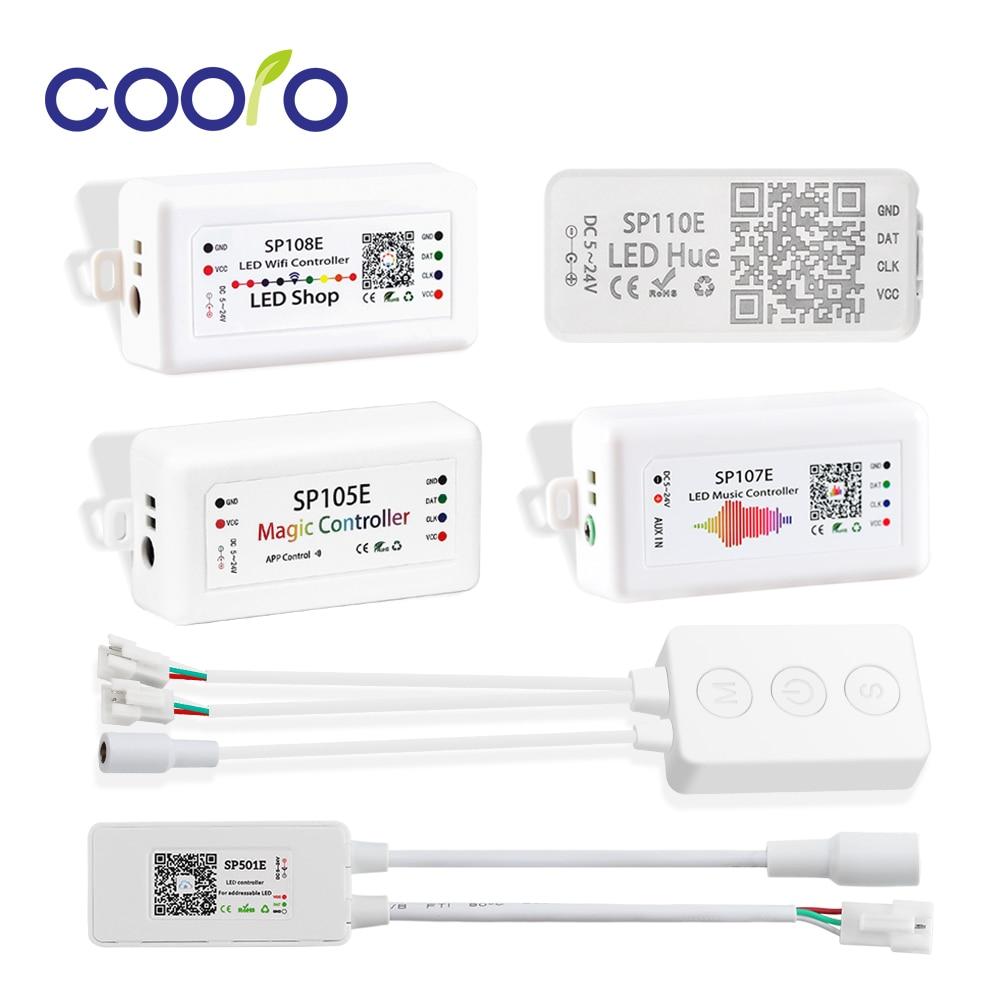 WS2812B LED Strip Light Controller Bluetooth SP105E SP110E Wifi SP108E SP501E SP601E Music SP107E SP