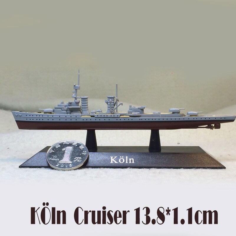 Acorazado de la Guerra Mundial de Alemania Corvette de la marina Imperial mundial modelo Koln 11250 muestra estática modelo niños Regalo de Cumpleaños juguete