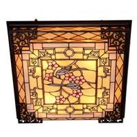 Tiffany Ceiling lamp Handmade Glass Baroque Alloy Vintage Lamp for Foyer Bed Room 63*63cm 1117