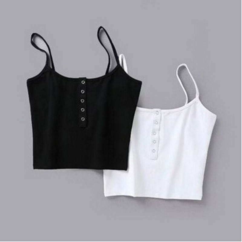 Summer 2020 Women Strap Crop Top Sexy Backless Leakage Navel Solid Camisole Tank Tops Tube Breathable tops