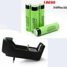 Original Rechargeable Battery NCR 18650 3.7V 3400mAh + EU charger li-ion Rechargeable Batteries NCR1