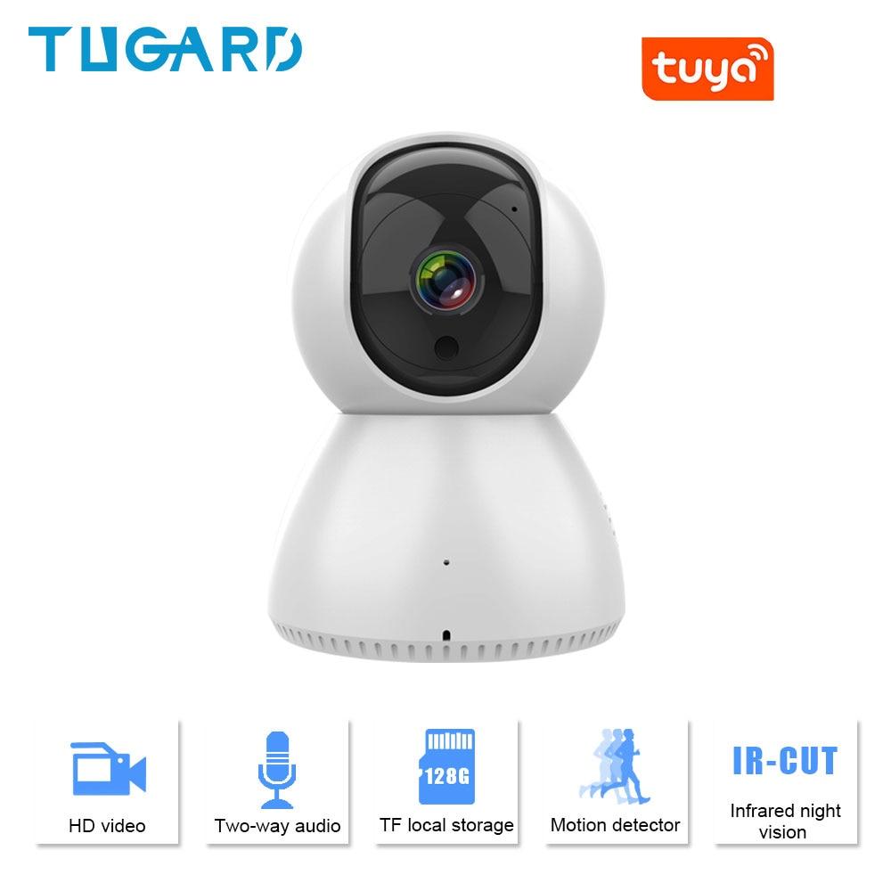 Tugard السيارات المسار 1080P IP كاميرا لاسلكية واي فاي PTZ كاميرات داخلية صغيرة ذكية مراقبة الطفل كاميرا مراقبة بالرؤية الليلية