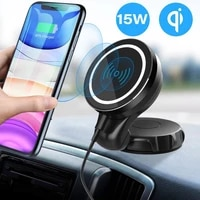 15w magnetic wireless car charger mount for iphone 1212 mini12 pro max fast charge airvent mount magsafs car phone holder