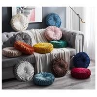 round lisi velvet 3d golde dot plain simple cushion pillow case ins square pillow car sofa office striped waist pillow spot