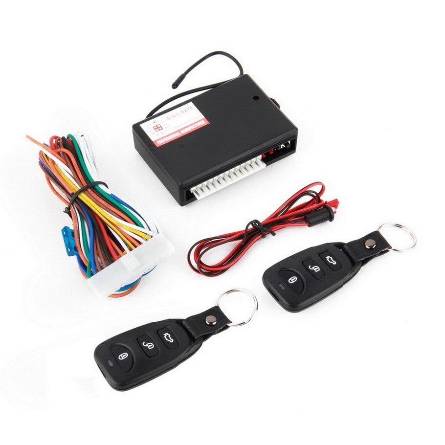 Universal Auto Fernbedienung Zentrale Kit Tür Verriegelung Keyless Entry System Alarm Fahrzeug Entry System Mit 2 sets von Remote cont