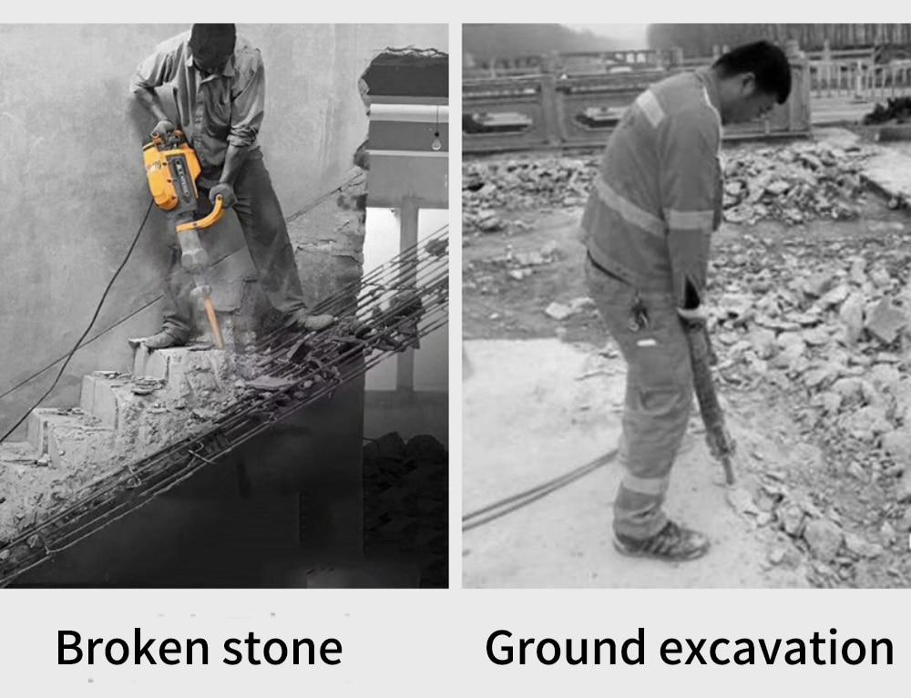 Power tool 65/95 electric pick Industrial grade concrete high-power heavy-duty broken electric pick enlarge