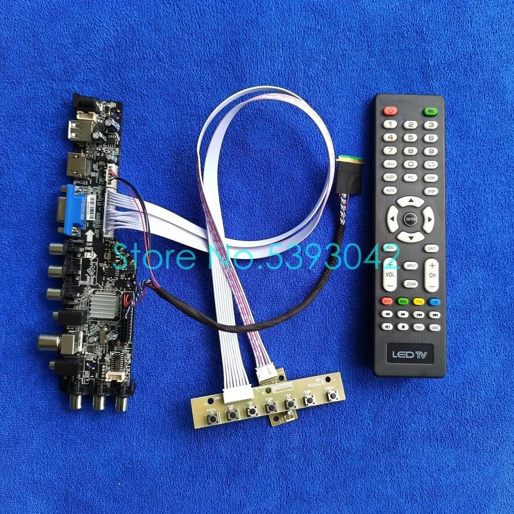 شاشة رقمية مجموعة بطاقات التحكم العالمية LVDS Fit B154PW04/LP154WP2/LP154WP3/LP154WP4 3663 DVB 40 Pin USB + VGA + AV 1440*900
